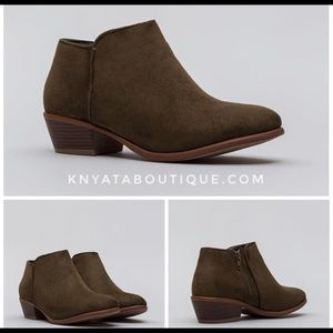 Olive Ankle Bootie